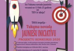 Tukuma novada jauniešu iniciatīvu projektu konkurss 2020